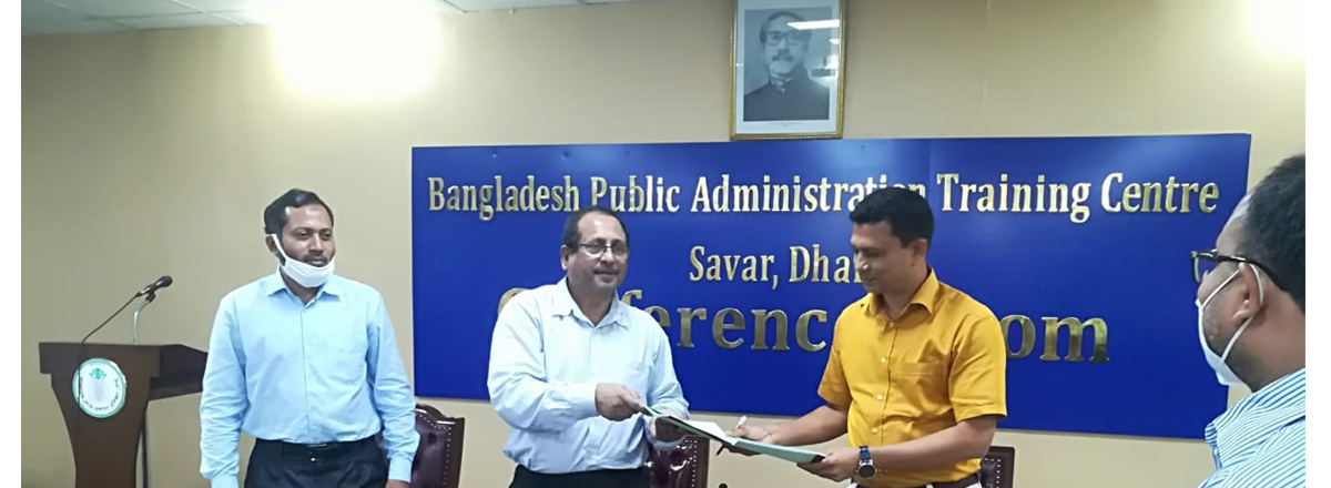 APA signing program with RPATC, Dhaka in BPATC